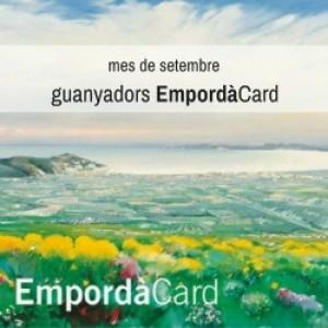 Establiments amb premiats de la promoció Empordà Card del setembre 2016.