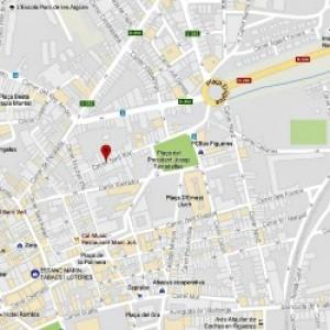 Canvi de sentit al carrer Sant Roc de Figueres.