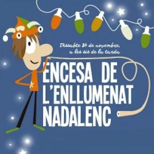 Encesa de l'enllumenat nadalenc 2016 de Figueres
