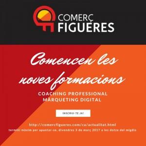 Inscriu-te a les noves formacions en coaching i màrqueting de Comerç Figueres