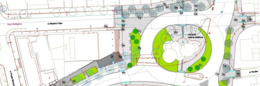 Reunió sobre les afectacions per les obres corresponents al nou giratori de la Plaça del Sol.