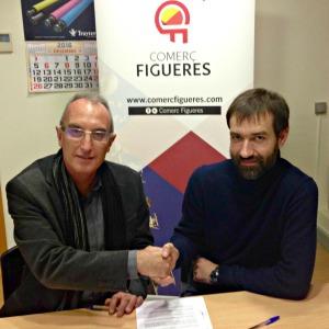 Conveni entre Comerç Figueres i el departament d'Ensenyament de la Generalitat.